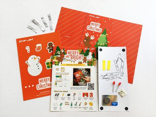 paper circuit christmas card  atom  the dot